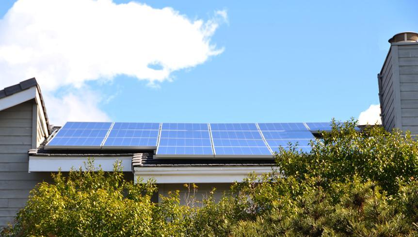 Solar Panels In Orange
