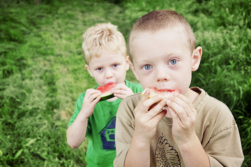 Children enjoy eating outdoors, encourage picnics and packed lunches when you are out and about.