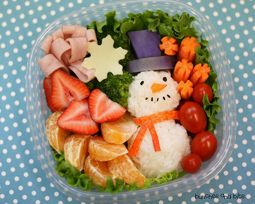 Making lunches fun will encourage children to try unfamiliar foods!
