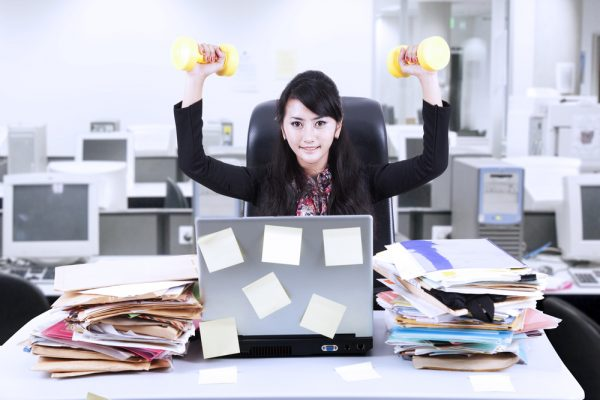 business woman exercise