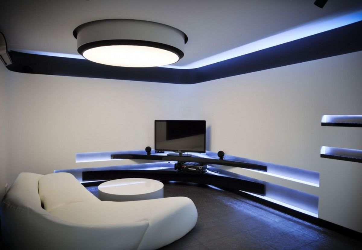 Installation Of LED Lighting Technology In Contemporary Home Design