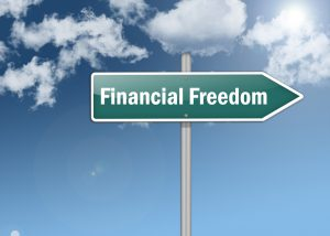 """Signpost """"Financial Freedom"""""""