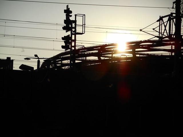 Traintracks Sunset