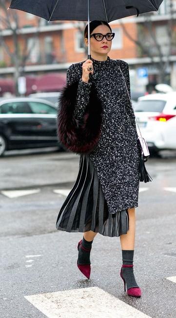 winter chic dressing