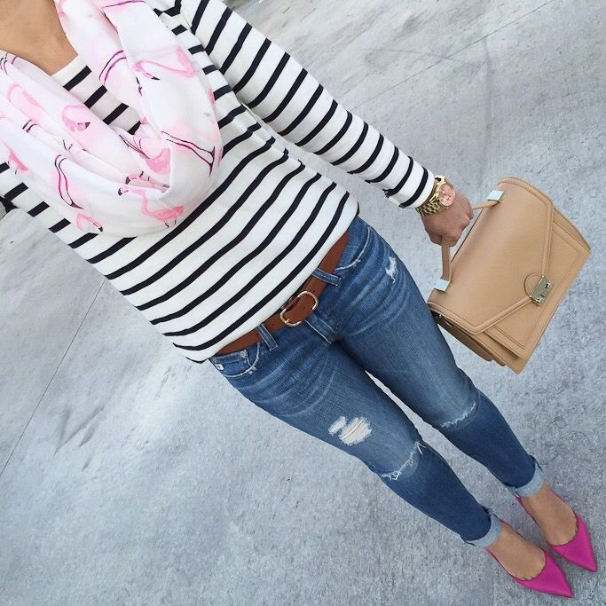 Try Out Trendy Stripped Shoes On Slim Fit Shirt In This Spring Season